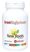 New Roots Iron Bisglycinate 35 mg, 30 Capsules | NutriFarm.ca