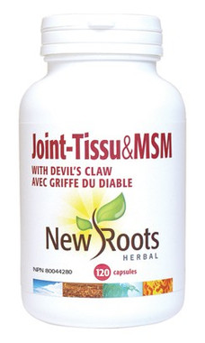 New Roots Joint-Tissu & MSM 900 mg, 120 Capsules | NutriFarm.ca