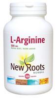 New Roots L-Arginine 500 mg, 100 Capsules | NutriFarm.ca