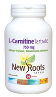 New Roots L-Carnitine Tartrate 750 mg, 90 Capsules | NutriFarm.ca