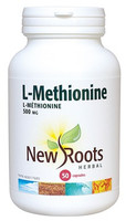 New Roots L-Methionine 500 mg, 50 Capsules | NutriFarm.ca