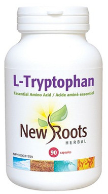 New Roots L-Tryptophan 220 mg, 90 Capsules | NutriFarm.ca
