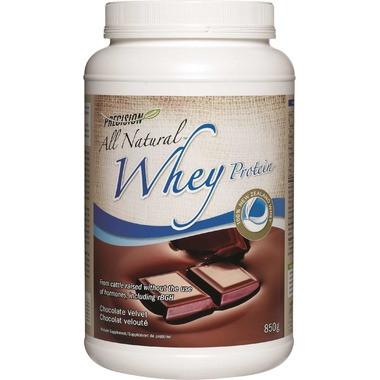 Precision All Natural Whey Protein Chocolate Velvet, 850 g | NutriFarm.ca