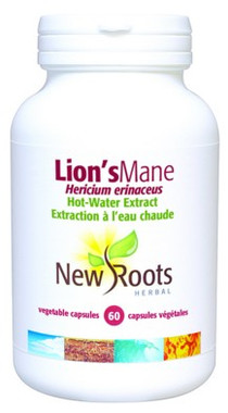 New Roots Lion's Mane 500 mg, 60 Capsules | NutriFarm.ca
