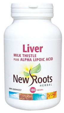 New Roots Liver (Milk Thistle), 180 Capsules | NutriFarm.ca
