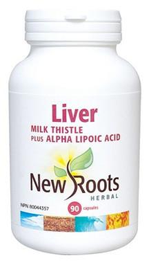 New Roots Liver (Milk Thistle), 90 Capsules | NutriFarm.ca
