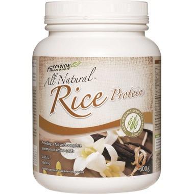 Precision All Natural Rice Protein Vanilla, 600 g | NutriFarm.ca