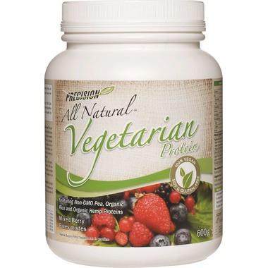 Precision All Natural Vegetarian Protein Mixed Berry, 600 g | NutriFarm.ca