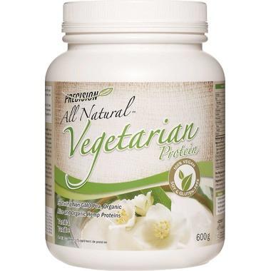 Precision All Natural Vegetarian Protein Vanilla, 600 g | NutriFarm.ca