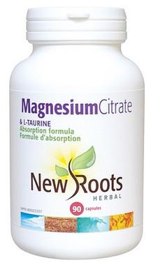 New Roots Magnesium Citrate & L-Taurine, 90 Capsules | NutriFarm.ca