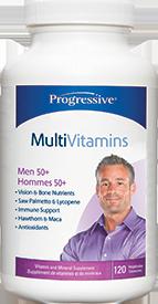Progressive Multivitimins For Men 50+, 120 Vegetable Capsules
