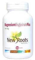 New Roots Magnesium Bisglycinate Plus 150 mg, 120 Capsules | NutriFarm.ca