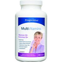 Progressive Multivitimins For Women 50+, 120 Vegetable Capsules | NutriFarm.ca