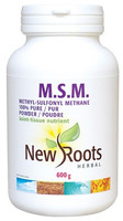 New Roots M.S.M. 100% Pure Powder, 600 g | NutriFarm.ca