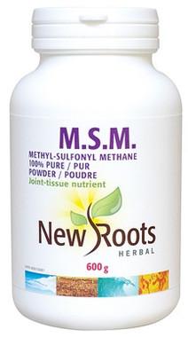 New Roots M.S.M. 100% Pure Powder, 600 g | NutriFarm.ca