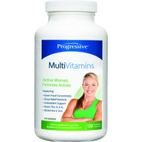 Progressive Multivitimins For Active Women, 120 Vegetable Capsules | NutriFarm.ca