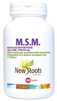 New Roots M.S.M. 850 mg 100% Pure, 180 Capsules | NutriFarm.ca