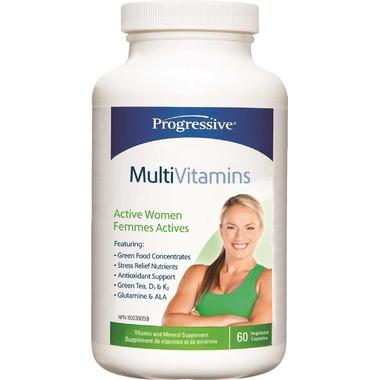 Progressive Multivitimins For Active Women, 60 Vegetable Capsules   NutriFarm.ca