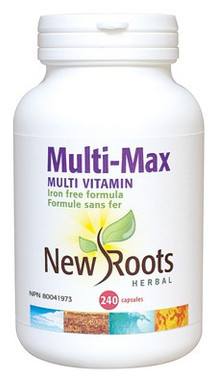 New Roots Multi-Max, 240 Capsules | NutriFarm.ca