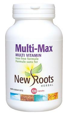 New Roots Multi-Max, 120 Capsules | NutriFarm.ca