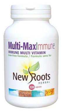 New Roots Multi-Max Immune, 120 Capsules | NutriFarm.ca