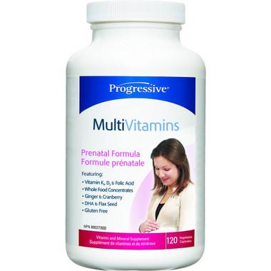 Progressive Multivitimins Prenatal, 120 Vegetable Capsules   NutriFarm.ca