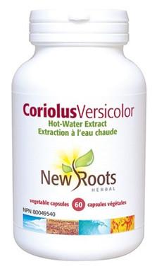 New Roots Coriolus Versicolor 500 mg 40% Polysaccharides, 60 Capsules | NutriFarm.ca