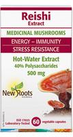 New Roots Reishi 500 mg 40% Polysaccharides, 60 Capsules | NutriFarm.ca