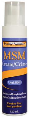 Prairie Naturals OptiMSM Cream, 120 ml   NutriFarm.ca