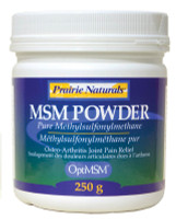 Prairie Naturals OptiMSM Powder, 250 g | NutriFarm.ca