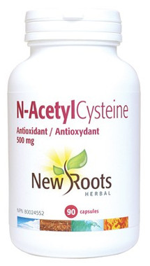 New Roots N-AcetylCysteine 500 mg, 90 Capsules | NutriFarm.ca