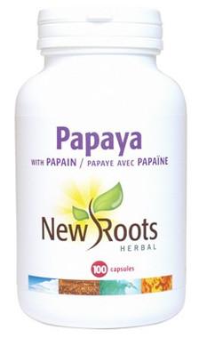 New Roots Papaya, 100 Capsules | NutriFarm.ca