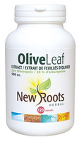 New Roots Olive Leaf Extract 500 mg, 120 Capsules | NutriFarm.ca