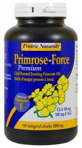 Prairie Naturals Primrose-Force 1000mg, 180 Softgels | NutriFarm.ca