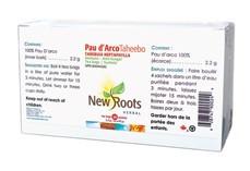 New Roots Pau d'Arco Taheebo (Sachets), 20 Tea Bags   NutriFarm.ca