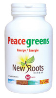 New Roots Peacegreens, 240 Capsules | NutriFarm.ca
