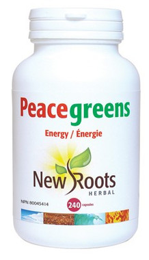 New Roots Peacegreens, 240 Capsules | NutriFarm.ca