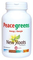 New Roots Peacegreens, 120 Capsules | NutriFarm.ca