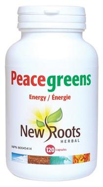 New Roots Peacegreens, 120 Capsules | NutriFarm.ca