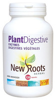 New Roots Plant Digestive Enzymes 375 mg, 120 Capsules | NutriFarm.ca