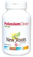 New Roots Potassium Citrate 100 mg, 100 Capsules | NutriFarm.ca