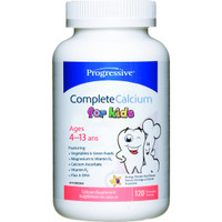 Progressive Complete Calcium for Kids, 120 Chewable Tablets | NutriFarm.ca