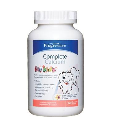 Progressive Complete Calcium for Kids, 60 Chewable Tablets | NutriFarm.ca