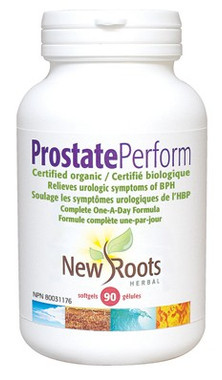 New Roots Prostate Perform Certified Organic, 90 Softgels | NutriFarm.ca