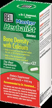 Bell Bone Density with Calcium 1152 mg, 60 Capsules | NutriFarm.ca