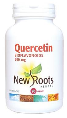 New Roots Quercetin Bioflavonoids 500 mg, 90 Capsules   NutriFarm.ca