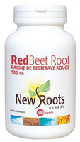 New Roots Red Beet Root 500 mg, 100 Capsules | NutriFarm.ca