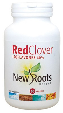 New Roots Red Clover Isoflavones 40%, 60 Capsules | NutriFarm.ca