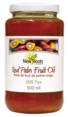 New Roots Red Palm Fruit Oil, 500 ml | NutriFarm.ca