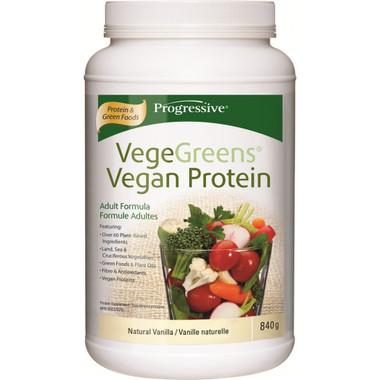 Progressive VegeGreens Vegan Protein Natural Vanilla, 840 g   NutriFarm.ca